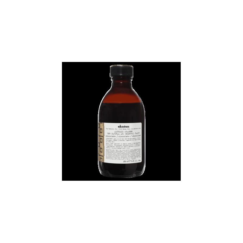 Alchemic Shampoo Chocolate szampon podkreślający kolor - włosy ciemnobrązowe i czarne 250 ml Davines