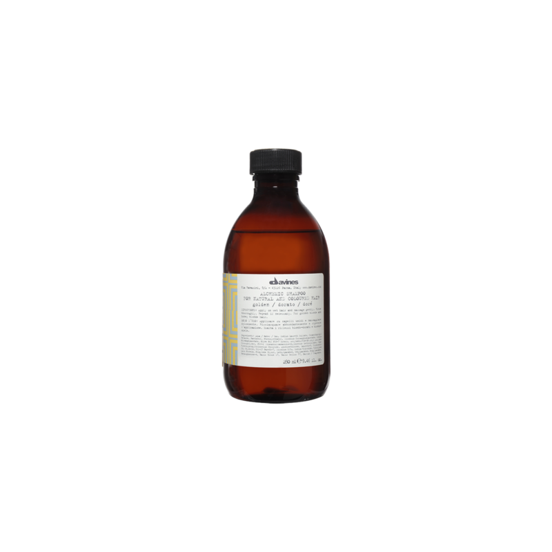 Alchemic Shampoo Golden szampon podkreślający kolor - włosy blond złote i miodowe 250 ml Davines