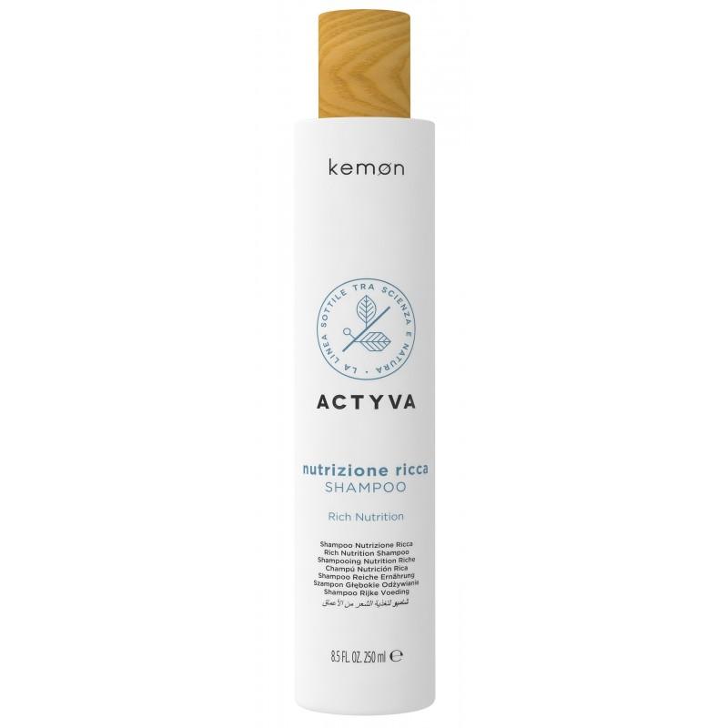 KEMON ACTYVA Nutrizione Ricca Shampoo 250ml - Szampon do włosów suchych