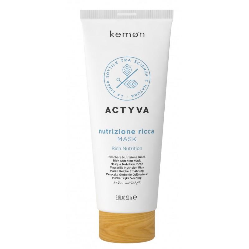 KEMON ACTYVA Nutrizione Ricca Mask 200ml - Maska do włosów suchych