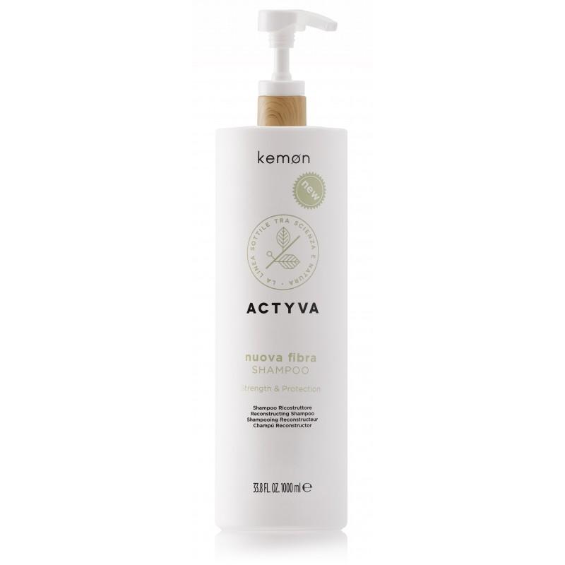KEMON ACTYVA Nuova Fibra Shampoo 250ml - Szampon odbudowujący włosy zniszczone cienkie i delikatne
