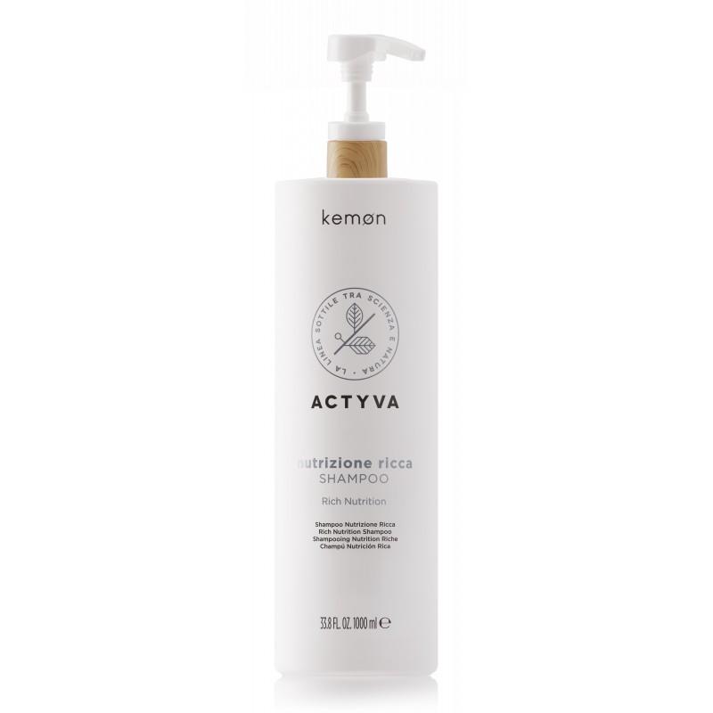 KEMON ACTYVA Nutrizione Ricca Shampoo 1000ml - Szampon do włosów suchych