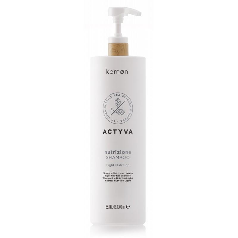 KEMON ACTYVA Nutrizione Shampoo 1000ml - Szampon do włosów przesuszonych