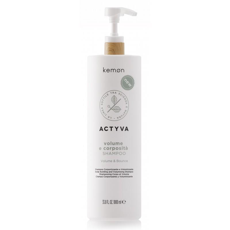 KEMON ACTYVA Volume e Corposita Shampoo 1000ml - Szampon nadający objętość