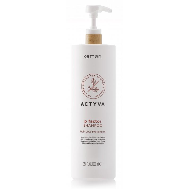 KEMON ACTYVA P Factor Shampoo 1000ml - Szampon przeciw wypadaniu włosów